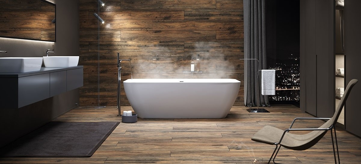 The beauty of wood, the advantages of gres tiles