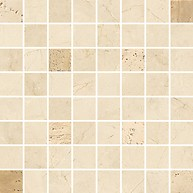 Light Marble Beige Mosaic Square